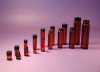 Amber Screw Thread Vials/Teflon Lined Polypropylene Caps -- V1519A-TFE