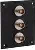 3 JACK PANEL INSERT BULKHEAD FEED THROUGH TRB 2 LUG NON ISOLATED -- REF00166 -Image