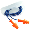 Howard Leight SmartFit SMF-30 Orange Universal Thermoplastic Elastomer Foam Reusable Corded Ear Plugs - 033552-011026 -- 033552-011026