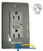 Hubbell Circuit Guard LED GFCI Receptacle -- GF15LA