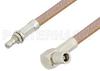 SMB Plug Right Angle to SMB Jack Bulkhead Cable 72 Inch Length Using RG400 Coax -- PE34475-72 -Image