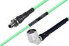 Temperature Conditioned SMA Female Bulkhead to N Male Right Angle Low Loss Cable 100 cm Length Using PE-P142LL Coax -- PE3M0151-100CM -Image
