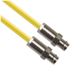 CJ70-7 TRB Jack 3-Lug Female to CJ70-7 TRB Jack 3-Lug Female 50 Ohm TRC-50-2 Triaxial cable Yellow jacket 60-inch Triax Cable Assembly -- MP-2607-60 -Image
