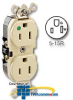 Leviton Illuminated Back and Side Wired Duplex Receptacle -- 8200-HL