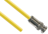 TRB Plug 3-Slot Male to Blunt end 50 Ohm Triaxial cable Yellow jacket .245 O.D.; 24-inch Triaxial Cable Assembly -- MP-2604-24