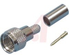 connector,rf coaxial,mini-uhf,crimp 3-piece plug for rg/u 58 cable -- 70080912