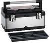 Portable Tool Box,19-7/8 In W,Blk/Silver -- 16W839