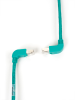15FT Green CAT6 250MHz Angle Patch Cable S/FTP CM Down-Up -- EVNSL212S-0015-90DU - Image