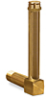 """Vented Long Elbow Brass Liquid Level Gage, 4 13/32"""" Sight Opening, 5/8"""" Diameter Glass, 1/2"""" Male NPT Mounting Thread -- B1150-3"""