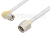 SMA Male to SMA Male Right Angle Cable 36 Inch Length Using PE-SR402FL Coax, RoHS -- PE3483LF-36 -Image