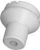 Plastic Mushroom Knob - Grey - SS Insert - 8-32 -- 06241-0A1 - Image