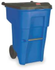 Roll Out Container With Lid,65 G,Blue -- 1EC46