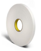 3M 4466 White Foam Mounting Tape - 1/4 in Width x 36 yd Length - 1/16 in Thick - 23499 -- 051115-23499 -- View Larger Image