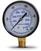 0-1000 psi / 0-7000 kPa Pressure Gauge with 2.5 inch mechanical dial -- G25-BD1000-4LB - Image