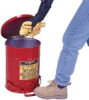 Justrite 09300 Red Oily Waste Cans General Protection - 10 -- B61606971