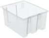 Tote, Nest/Stack,Clear, 19.5 x 15.5 x 10 -- 35190SCLAR