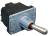 NT Series Toggle Switch, 2 pole, 3 position, Solder terminal, Standard Lever -- 12NT1-1