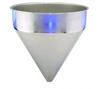 Stainless Steel Seamless Hopper Funnel, 14.7 Gal., 19.93
