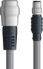 LAPP UNITRONIC® Devicenet™ Thin Extension Cordset - 5 positions male 7/8 inch straight to 5 positions male M12 straight - Continuous Flex - Gray PVC - 10m -- OLFDN4110058F10 -Image