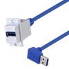 USB 3.0 Type A ECF Coupler, Female Type A to Male A 90 degree down 24in -- MUS3A00039-24I