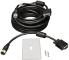 VGA Coax Monitor Easy Pull Extension Cable, High Resolution Cable with RGB Coax (HD15 M/F), 100-ft -- P501-100