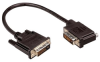 DVI-D Dual Link DVI Cable Male / Male Right Angle,Left 3.0 ft -- MDA00032-3F -Image
