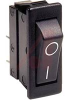 SWITCH,ROCKER, HIGH INRUSH;SPST;ON-OFF,20A,250VAC;0.25 IN. QC;ACTUATOR,BLACK -- 70065599 - Image