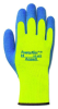 Ansell Powerflex T 80-400 Blue/Yellow 9 Thermal Terry Cloth Mechanic's Glove - Latex Palm Only Coating - 076490-06420 -- 076490-06420
