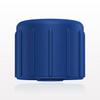 Non-Vented Recessed Male Cap, Blue -- 65374 -Image