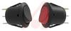 Switch, Rocker, Round, Illuminated, On-None-Off, Amber, 125V Neon, 10 Amps -- 70131779 - Image