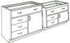 Standard Steel Laboratory Cabinet, (1) Door & (1) Wide Drawer & (_) Drawers -- 140B Series - Image