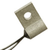 500 Series surface temperature probe, NTC, 30,000 Ohm, ±0,05 °C [0.09 °F] tolerance, 32 °C to 42 °C [90 °F to 108 °F] accuracy, aluminum, ring tongue (#6), flying le -- 590-32AD11-303