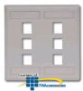 Hubbell IFP Double Gang Wall Plate - 6 Ports -- IFP26