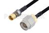 Snap-On BMA Jack to SMA Male Cable 24 Inch Length Using PE-SR402FLJ Coax -- PE3C4908-24 -Image