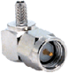 SMA Male Right-angle Connector With RG174 Cable End Crimp -- CONSMA012 -- View Larger Image