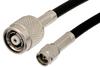SMA Male to Reverse Polarity TNC Male Cable 36 Inch Length Using PE-C195 Coax -- PE37120-36 -Image