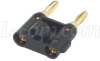 Dual Banana Plug for Coax or Wires -- BP125209 - Image