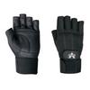 Pro Material Handling Fingerless Gloves w/ Wrist Strap - Medium -- GLV1017M -- View Larger Image