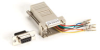 DB9 Colored Modular Adapter (Unassembled), Female to RJ-45, 8-Wire, Gray -- FA4509F-GY