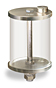 """(Formerly B966-72), Oil Reservoir, 1 pt Pyrex, 1/8"""" Female NPT Outlet, 5/8""""-18 Thread for Remote Mounting -- B966-0165PB1W -- View Larger Image"""
