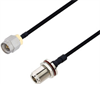 SMA Male to N Female Bulkhead Cable Assembly using LC141TBJ Coax, 10 FT -- LCCA30476-FT10 -Image
