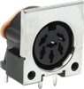 Right Angle Receptacle with Front Shield DIN Standard Circular Connector -- SDF-70J