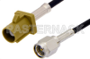 SMA Male to Curry FAKRA Plug Cable 48 Inch Length Using RG174 Coax -- PE39197K-48 -Image