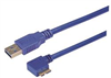USB 3.0 Type A straight to Micro B left angle exit 3M -- CA3A-90LMICB-3M -Image