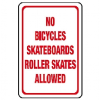 High Density Plastic Sign - No Bicycles