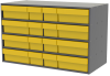 Akro-Mils Akrodrawers 120 lb Charcoal Gray Powder Coated, Textured Stackable Cabinet - 17 in Overall Length - 35 in Width - 22 in Height - 8 Drawer - Non-Lockable - AD3517CAST YELLOW -- AD3517CAST YELLOW -Image