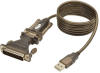 USB to Serial Adapter Cable (USB-A to DB25 M/M), 5-ft. -- U209-005-DB25 - Image