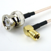 BNC Male to RA SMB Plug Cable RG316 Coax in 120 Inch -- FMC0826316-120 -Image