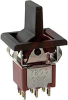 Switch, SM. LEV. HNDL. W/BEZEL, DPDT, ON-OFF-ON, 5A@120VAC OR 28VDC; 2A@250VAC -- 70128191