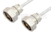 7/16 DIN Male to 7/16 DIN Male Cable 60 Inch Length Using PE-SR401FL Coax, RoHS -- PE36140LF-60 -Image